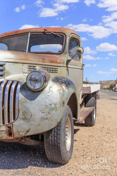 Kodachrome Wall Art - Photograph - Old Vintage Truck Cannonville Utah by Edward Fielding