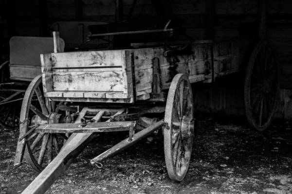 Photograph - Old Wagon In Barn by M G Whittingham