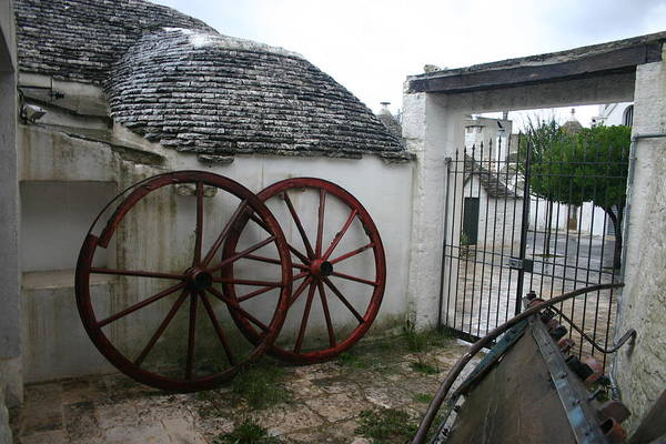 Wall Art - Photograph - Old Wagon Wheels by Dennis Curry
