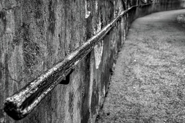 Photograph - Old Wall And Handrail by Stuart Litoff
