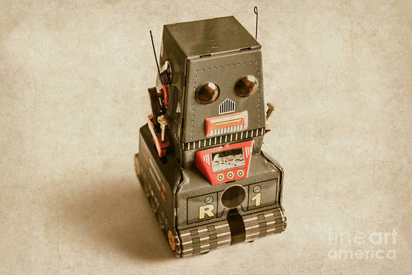 Sci-fi Photograph - Old Weathered Ai Bot by Jorgo Photography - Wall Art Gallery