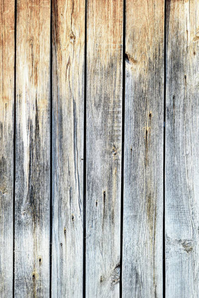 Photograph - Old Weathered Wood Planks by John Williams
