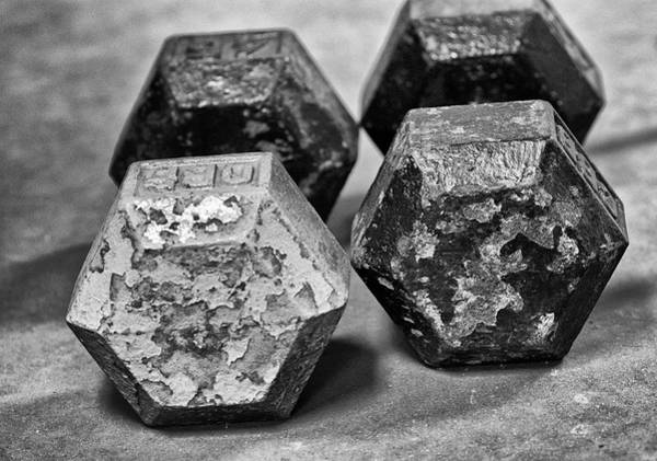 Iron Photograph - Old Weight by Susan Capuano