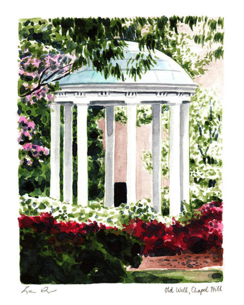Chapel Painting - Old Well Chapel Hill Unc North Carolina by Laura Row