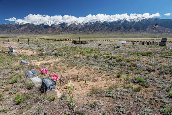 Photograph - Old West Rocky Mountain Cemetery View by James BO Insogna