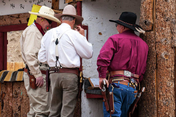 Cowboy Action Shooting Photograph - Old West Shooters by John Bartelt