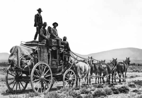Stagecoach Photograph - Old West Stagecoach C. 1880 by Daniel Hagerman
