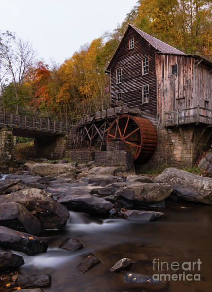 Wall Art - Photograph - Glade Creek Mill Autumn Splendor by Norma Brandsberg