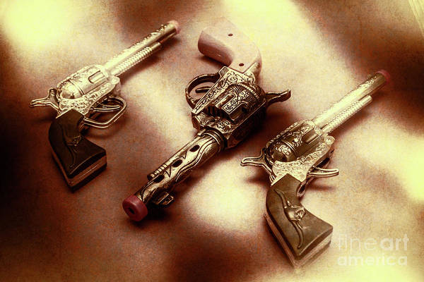 Toy Gun Photograph - Old Western At Play by Jorgo Photography - Wall Art Gallery