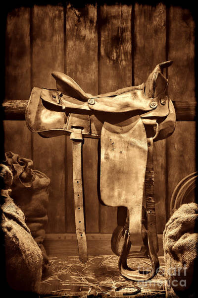 Photograph - Old Western Saddle by American West Legend By Olivier Le Queinec