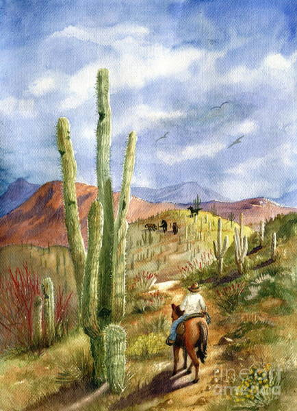 Desert Scene Painting - Old Western Skies by Marilyn Smith
