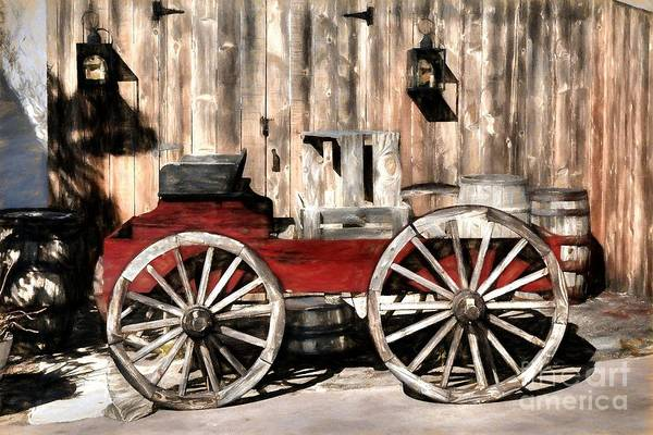 Photograph - Old Western Wagon by Mel Steinhauer