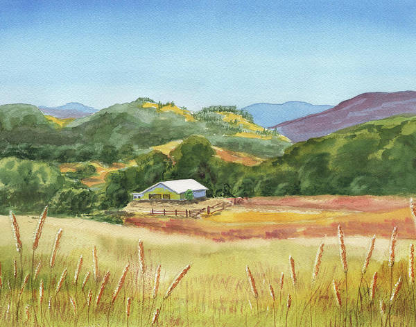 Painting - Old White Barn At Sonoma Mountains Ranch by Irina Sztukowski