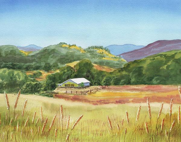 Wall Art - Painting - Old White Barn At Sonoma Mountains Ranch by Irina Sztukowski
