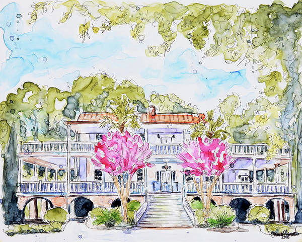 Southern Charm Painting - Old Wide Awake Plantation by Shaina Stinard