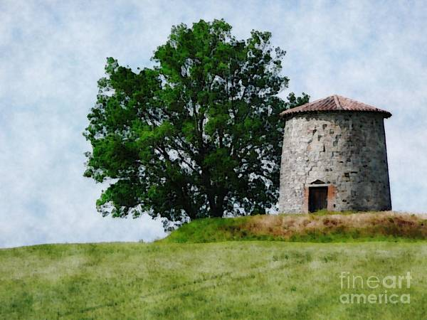 Photograph - Old Windmill by Jean Bernard Roussilhe