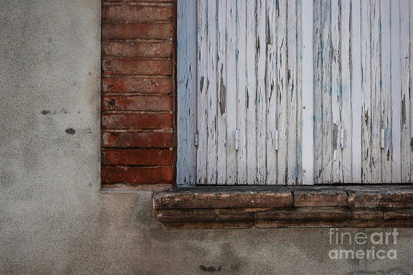 Shutter Photograph - Old Window With Closed Shutters by Elena Elisseeva