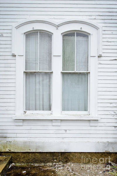 Photograph - Old Windows On A Mansion by Edward Fielding