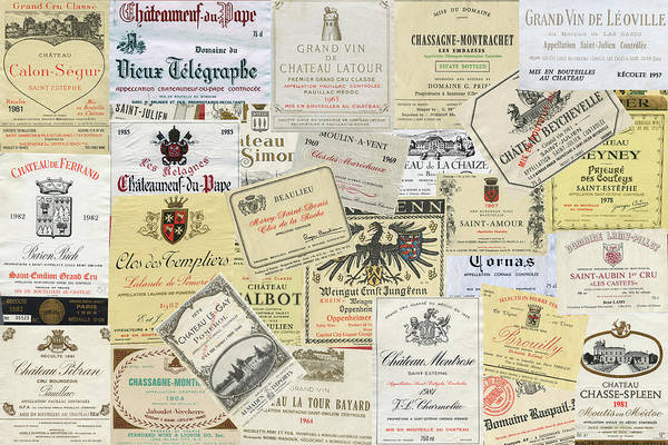 Photograph - Old Wine Labels by Gene Norris