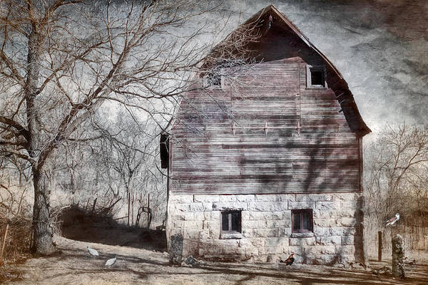 Photograph - Old Winter Barn by Anna Louise