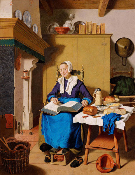 Jean Etienne Liotard Wall Art - Painting - Old Woman by Jean Etienne Liotard