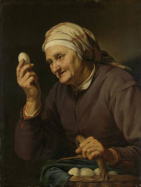 Painting - Old Woman Selling Eggs by R Muirhead Art