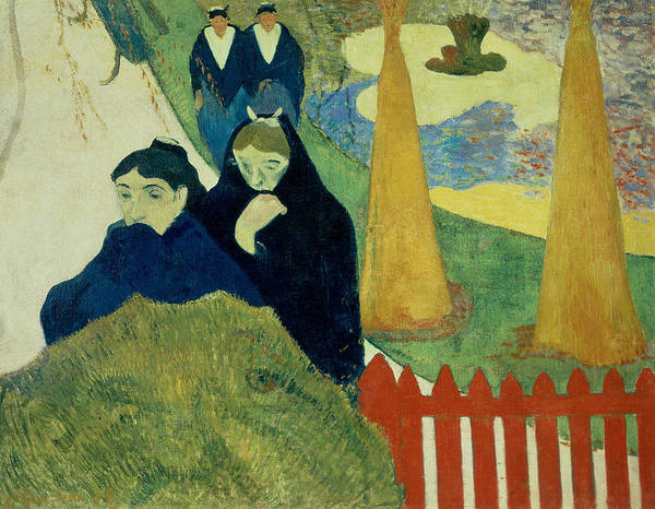 Old South Painting - Old Women Of Arles by Paul Gauguin