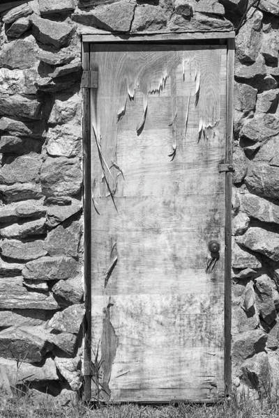 Photograph - Old Wood Door  And Stone - Vertical Bw by James BO Insogna