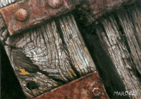 Wall Art - Painting - Old Wood by Marcel Franquelin