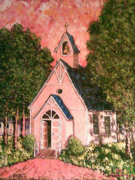 Church Yard Painting - old wooden Church by Frank Morrison