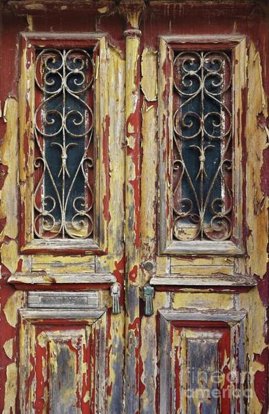 Doorknob Photograph - Old Wooden Doors by Carlos Caetano
