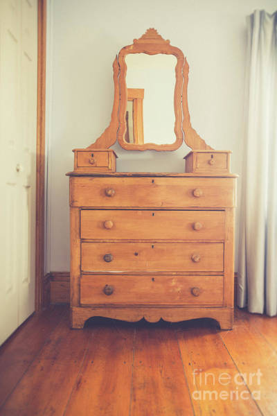 Drawers Photograph - Old Wooden Dresser by Edward Fielding