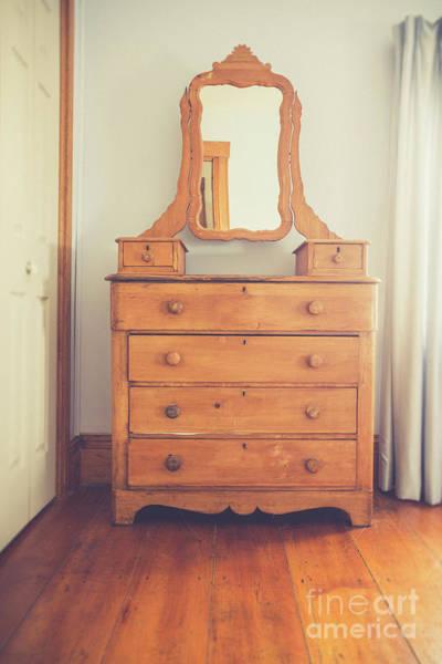Photograph - Old Wooden Dresser by Edward Fielding