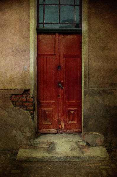 Wall Art - Photograph - Old Wooden Gate Painted In Red  by Jaroslaw Blaminsky