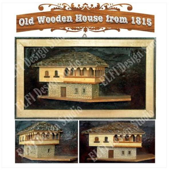 Antiquities Mixed Media - Old Wooden House by Elfishes Design