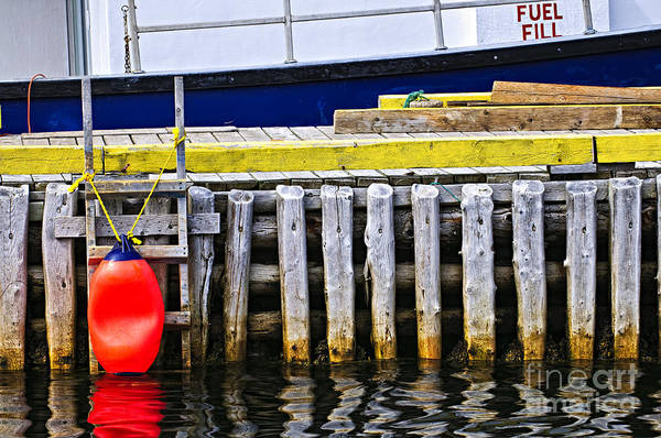 Wall Art - Photograph - Old Wooden Pier In Newfoundland by Elena Elisseeva