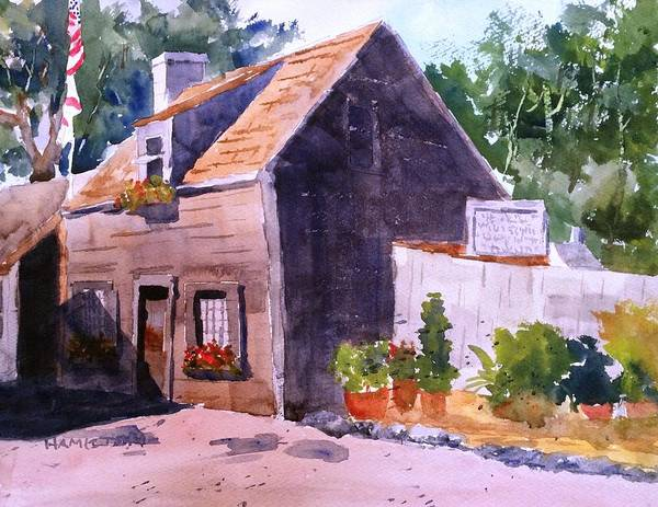Painting - Old Wooden School House by Larry Hamilton