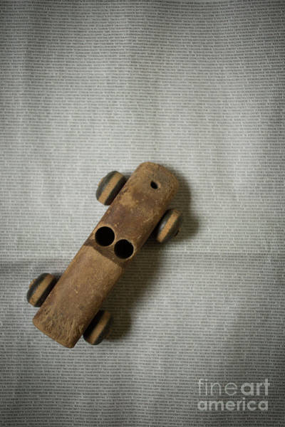 Photograph - Old Wooden Toy Car Still Life by Edward Fielding