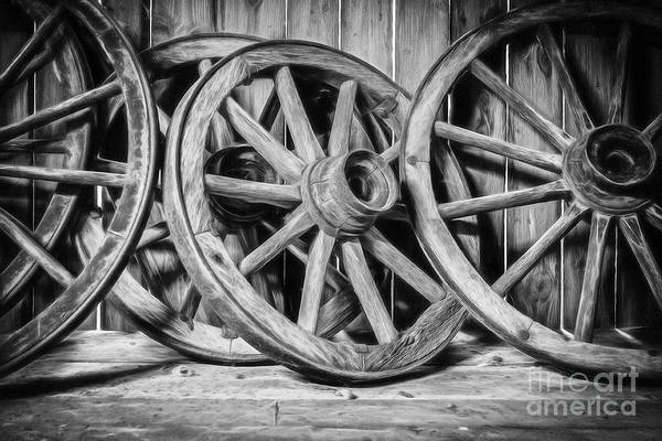 Wall Art - Photograph - Old Wooden Wheels by Erik Brede