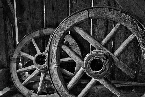 Photograph - Old Wooden Wheels by Stuart Litoff
