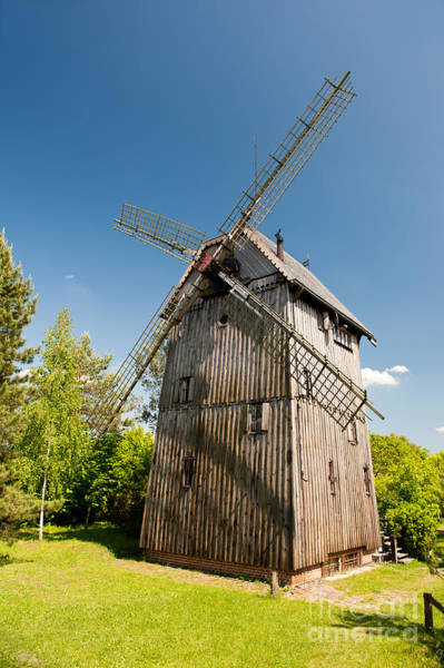 Wall Art - Photograph - Old Wooden Windmill Building by Arletta Cwalina