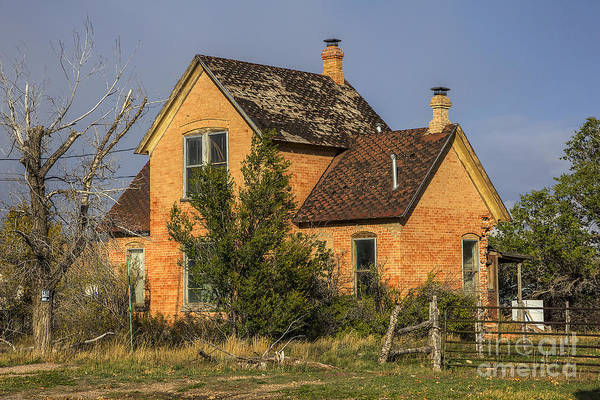 Photograph - Old Woodruff Brick Home by Spencer Baugh