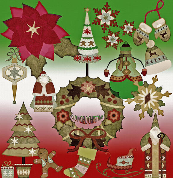Christmas Season Wall Art - Digital Art - Old World Christmas - Collage by Steve Ohlsen