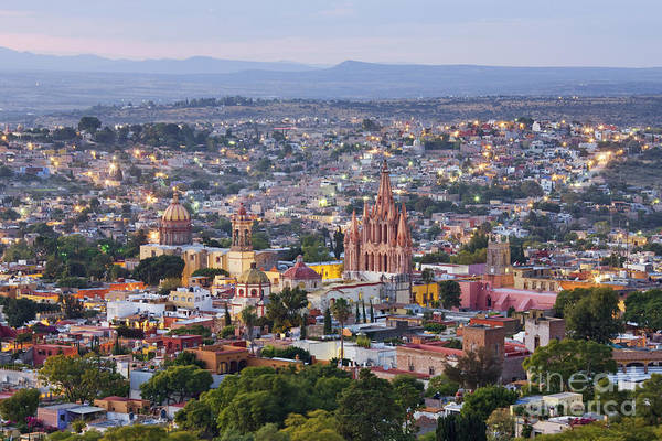 San Miguel De Allende Wall Art - Photograph - Old World City Skyline by Jeremy Woodhouse