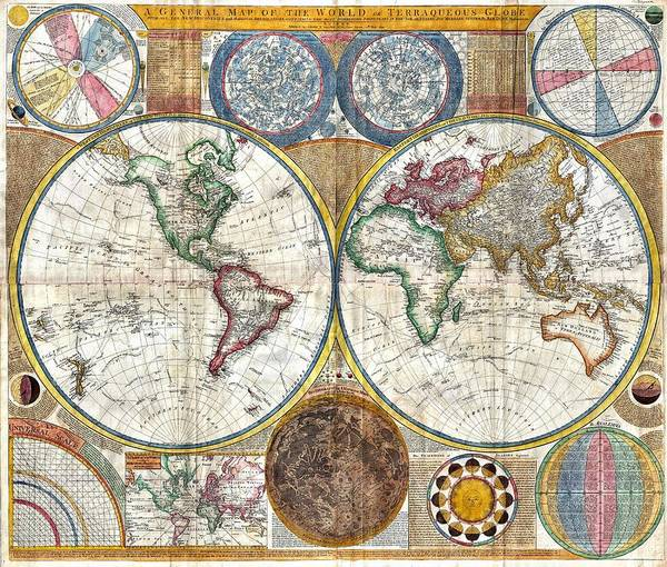 Mixed Media - Old World Map Print From 1794 by Marianna Mills