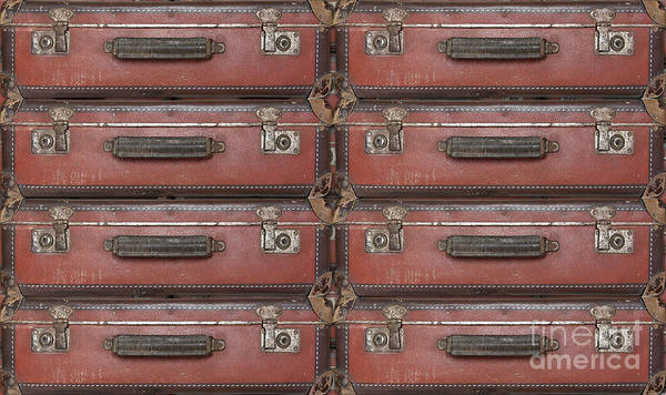 Old Wall Art - Photograph - Old Worn Travel Suitcases by Michal Boubin