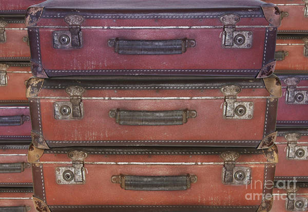 Old Wall Art - Photograph - Old Worn Travel Suitcases - Travel, Migration, Evacuation by Michal Boubin
