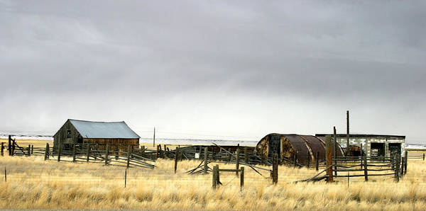 Photograph - Old Wyoming Farm by Anthony Jones