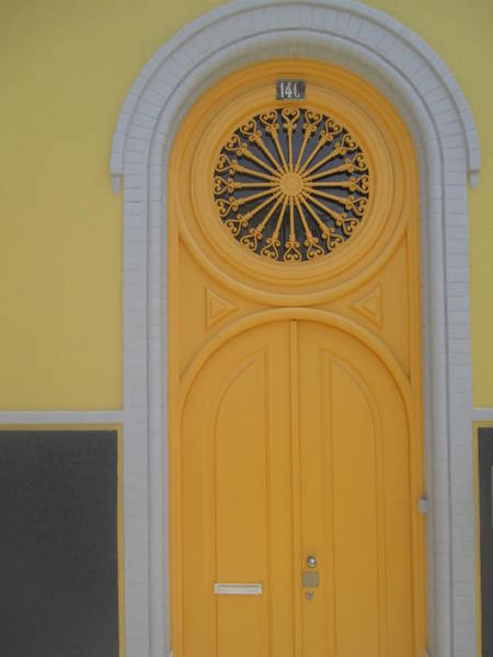 Detail Photograph - Old Yellow Door by Anamarija Marinovic