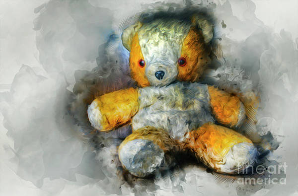Mixed Media - Olde Teddy Bear by Ian Mitchell